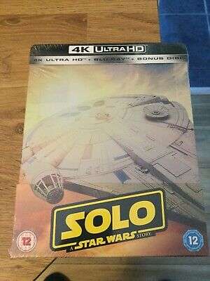 Solo A Star Wars Story Limited Edition 4K Ultra Hd Blu Ray Steelbook(New/Sealed)