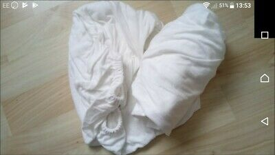 X2 Moses basket, carry cot, pram, jersey fitted Sheets