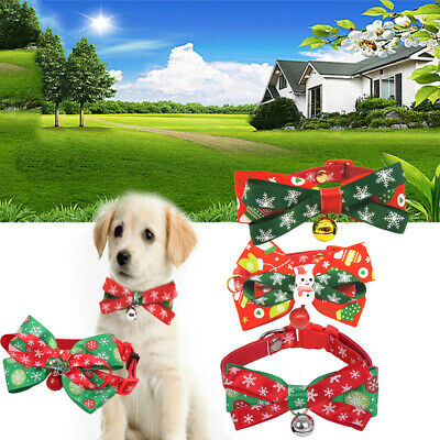 Puppy Christmas Cat Bowknot Dog Neck Strap Kitten Chain Necklace Pet Collar