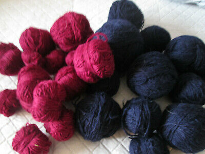 Approx 230g navy wool and 130g Burgundy wool (see description)