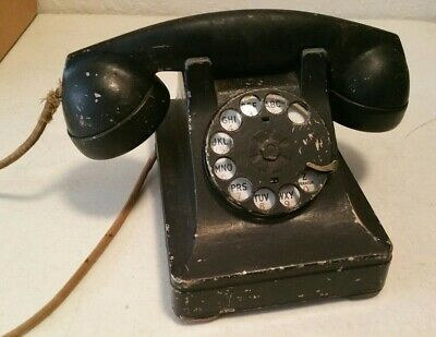 Vintage 1939 Bell System Western Electric Bakelite Rotary Dial Telephone