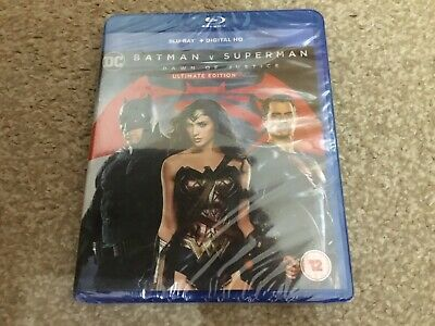BATMAN V SUPERMAN ULTIMATE EDITION DC DAWN OF JUSTICE BLU RAY New/sealed