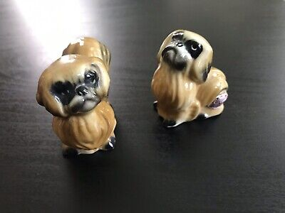 Vintage Bone China  - Pair Of Dog Figurine Made In England -  Very Rare