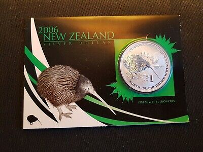 1 Dollar Silver Kiwi 2006 31.1g .999 ST in Blister