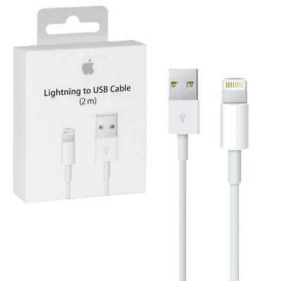 Boxed GENUINE Apple For Iphone 5 5S 6 7 XS Lightning USB charger Lead Cable 2m