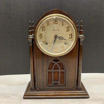 Ingraham 8 Day Steeple / Cathedral Clock Circa 1949 - CLEAN & WORKING