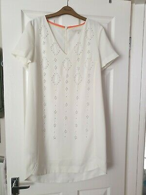 BEAUTIFUL!!! NEXT SUMMER BEADED WHITE DRESS SIZE 12 - (worn once)