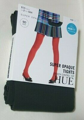 Hue Women's Super Control Top Opaque Tights Shadow Olive Size 2