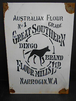 Dingo Flour Narrogin W.a Rustic Tin Sign  Freepostage Australia Wide