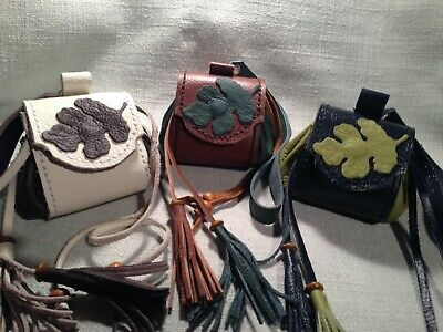 Handmade Medieval Fantasy Costume LARP Real Leather Pouch, Medicine Bags.