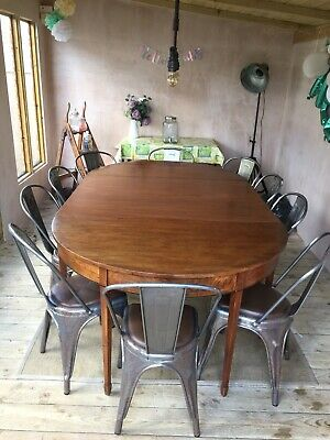Stunning Georgian Mahogany Extending 10 Seater Kitchen Dining Table      M3356