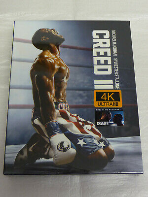 CREED 2 II Bluray 4K (dt.Ton) +2D Bluray Steelbook+Fullslip glänzend FILMARENA