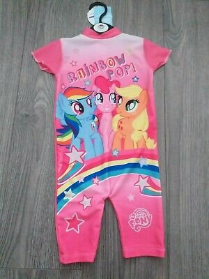 Bnwt My Little Pony Swimsuit Upf Protection 50+ Size 18-24Months