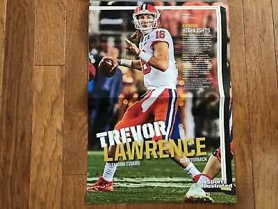 TREVOR LAWRENCE Poster Face-Off March 2019 SI Kids Magazine ~ Clemson Tigers