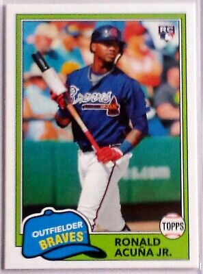 Ronald Acuña Jr. 2018 Topps Archives #212 Rookie  Card - Atlanta Braves