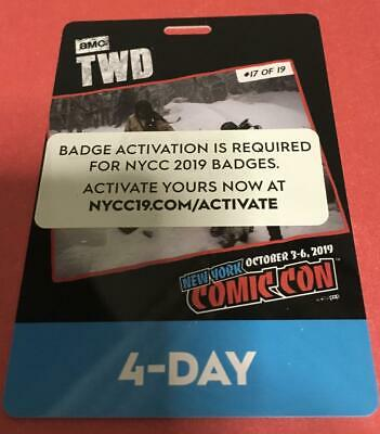 New York Comic Con 2019 4-Day Pass Badge ACTIVATED & Verified! NYCC Exclusive