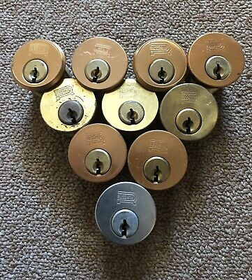 Wholesale Lot Of 10 RUSSWIN Rim Cylinder Locks Hardware NO Keys