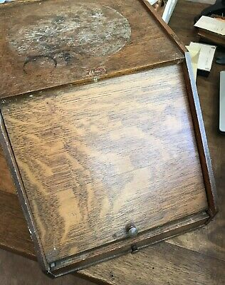 Antique 'Weis' Desktop Stationery & Pen cabinet, Made in Michigan