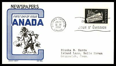 MayfairStamps CANADA FDC 1958 NEWSPAPERS FDC FIRST DAY COVER wwb52633