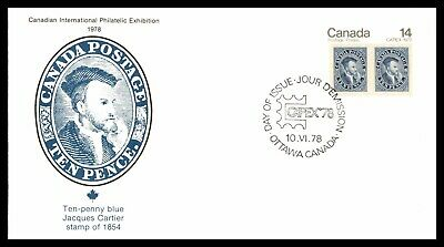 MayfairStamps CANADA FDC 1978 TEN PENNY BLUE JACQUES CARTIER CAPEX FDC FIRST DAY