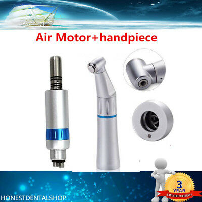 Dental Air Motor Inner Water Spray Low Speed LED Handpiece 4H w/ Air Moter SALE