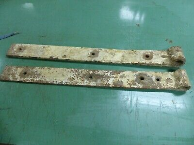 """Large 32-1/2"""" Long Barn Door Hinges Hand Forged"""