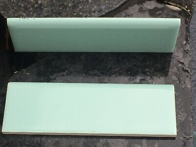 🎀 Case 120 Turquoise Ceramic Border Tiles H&R Johnson England VINTAGE 1960's