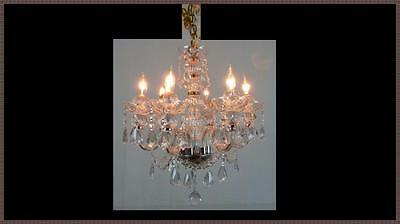 Genuine European Full Leaded Crystal Chandelier Gorgeous Light Fixture 6 Light