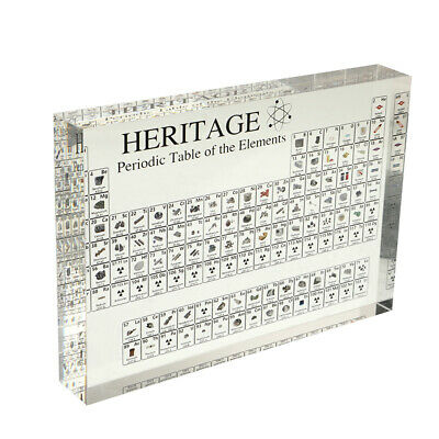 Acrylic Periodic Table Display With Elements For Home Teaching Decor Gift