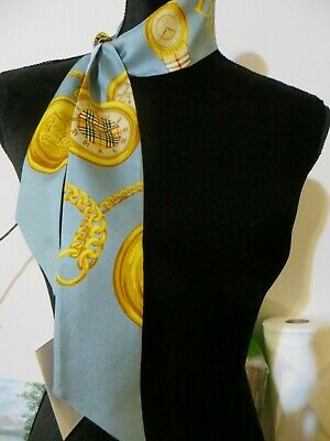 Nwt Burberry London England 100% Silk Scarf/Baby Bandeau Made In Italy