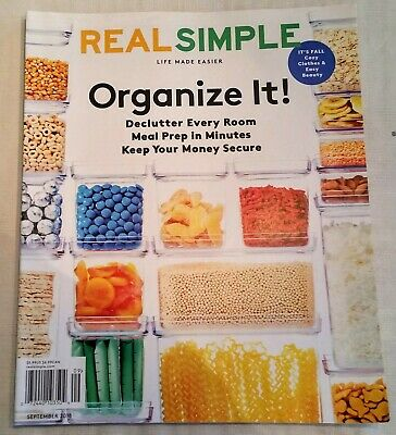 Real Simple Magazine  September 2018  Mint condition
