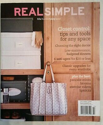 Real Simple Magazine  October 2004  Mint condition