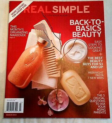 Real Simple Magazine  March 2013  Mint condition