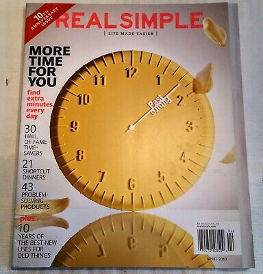 Real Simple Magazine April 2010  Mint condition