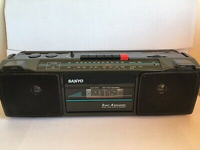 Sanyo M7024F FM/AM Radio Stereo Cassette Player