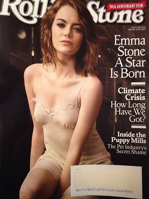 ROLLING STONE 2017 Emma Stone Climate Crisis Puppy Mills Tom Petty