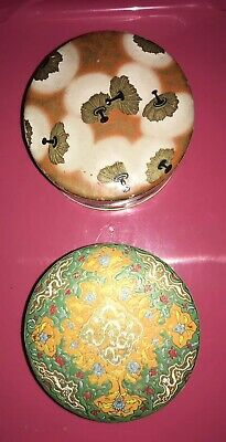 Coty Emeraude Powder Box Air Spun Rachel Nacre Vintage Lot Of 2