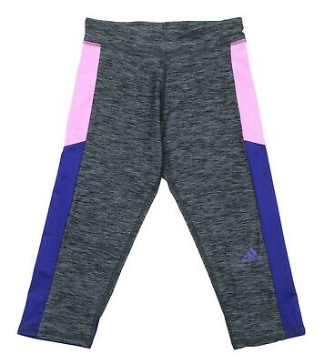 Adidas New Kids Girls Climalite Moisture Athletic Capri Pants M 10-12