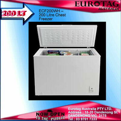 EURO ECF200WH – 200 Litre Chest Freezer  !BRAND NEW! 2 Years Warranty