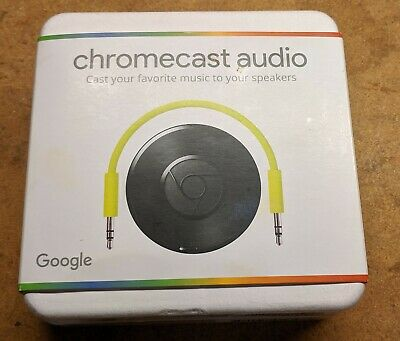 Google Chromecast Audio Media Streamer Black 811571016587