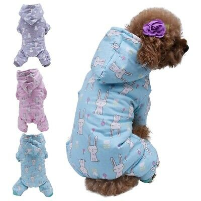 Pet Dog Warm Padded Coat Jacket Costume Puppy Chihuahua Winter Clothes Hoodie US