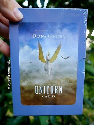 UNICORN CARDS BY DIANA COOPER With Guidebook Boxed Sealed New Tarot Deck Oracle
