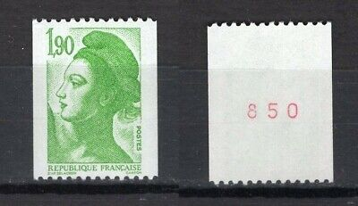 *Timbre Neuf**MNH**TBE n°2425 (1986) LIBERTÉ MARIANNE (roulette) n° rouge...