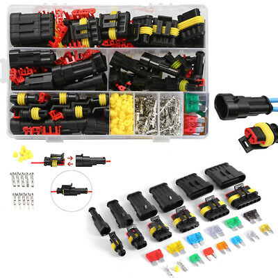240 Pcs Waterproof 12V Electrical Wire Connectors Plugs Terminal Kit For Car