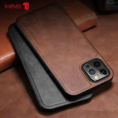 For Apple iPhone 11 Pro Max XS 7 8 Slim Leather Protective Phone Back Case Cover