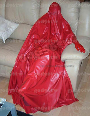 100% Latex Rubber Gummi Catsuit costume mummy sack 0.4mm Zentai Bodybag Suit Hot