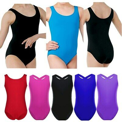 Girls Kids Ballet Dance Dress Sleeveless Gymnastics Leotards Dancewear Costume