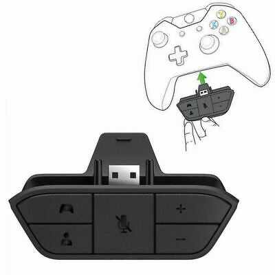 Audio Game Headset Headphone Stereo Adapter For Microsoft Xbox One Controller US
