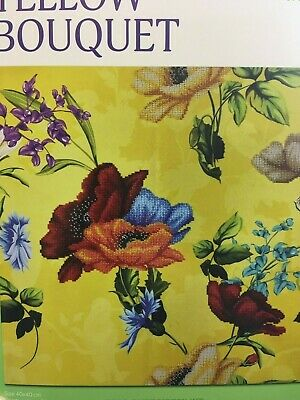Yellow Bouquet Bead Embroidery Kit - Miniart Crafts 11027