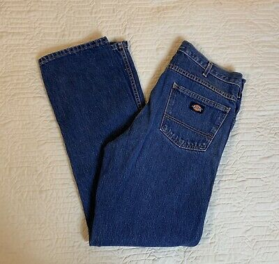 Dickies Blue Jeans Men Size 35x33 Classic Straight Leg Work Casual Medium Wash